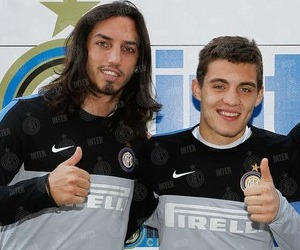 Ezequiel Schelotto e Mateo Kovacic