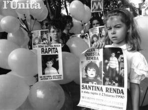 Una manifestazione per Santina Renda (foto tratta dall'archivio de L'Unità)